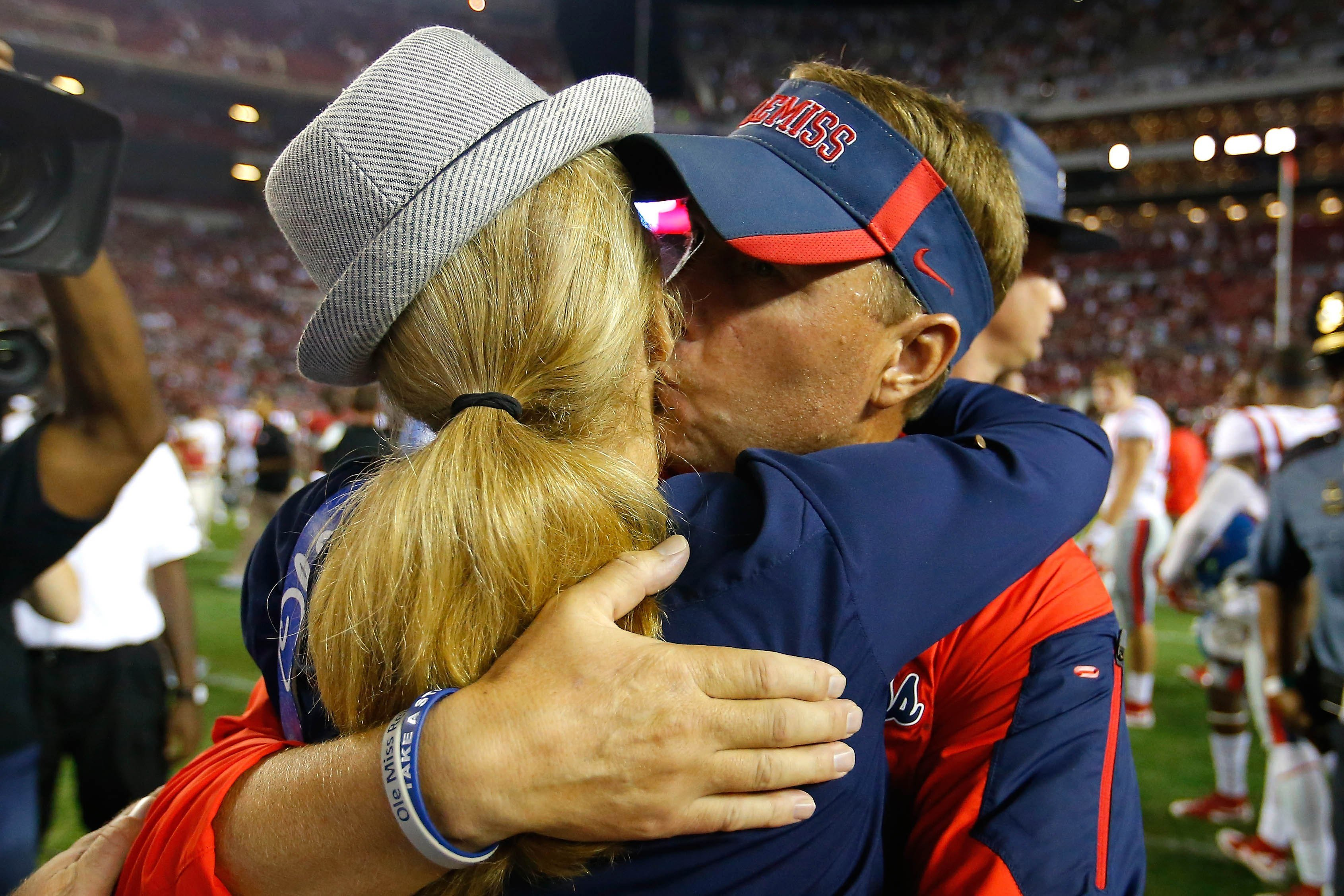 Disgraced Ole Miss coach breaks down as wife recalls his confession