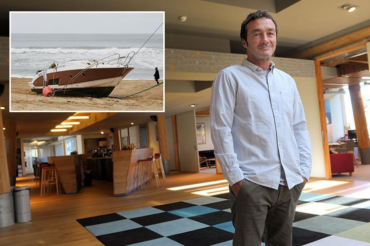 Quiksilver CEO Pierre Agnes missing after his boat was found upside down and empty on an isolated French beach