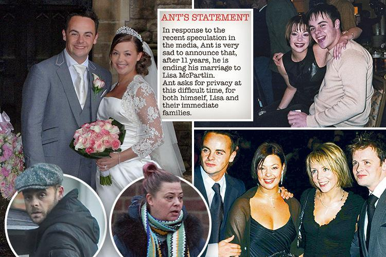 Ant McPartlin confims he will divorce from Lisa Armstrong after 11 years of marriage