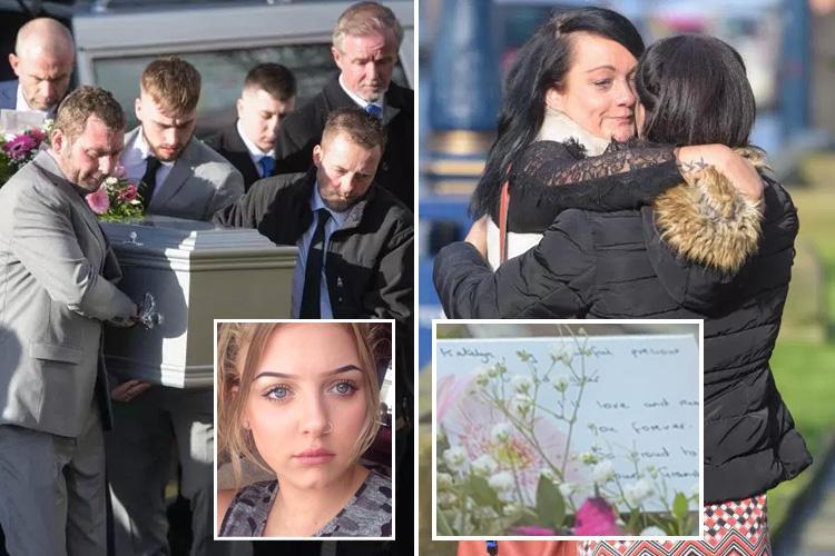 Grieving family's final farewell to schoolgirl, 15, mowed down and killed at Huddersfield bus stop
