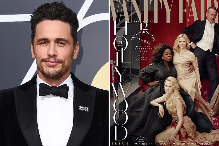 James Franco was airbrushed out of Vanity Fair's Hollywood cover after sexual misconduct allegations