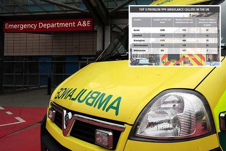 Ambulances called to one home more than 3,500 TIMES in a year – with 99 per cent of calls needing no hospital treatment