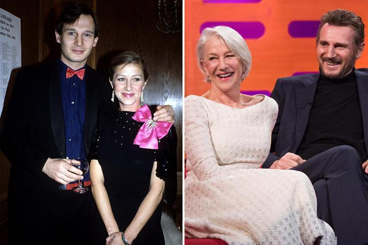 Helen Mirren reunited with ex-boyfriend Liam Neeson on TV more than 30 years after their passionate love affair ended