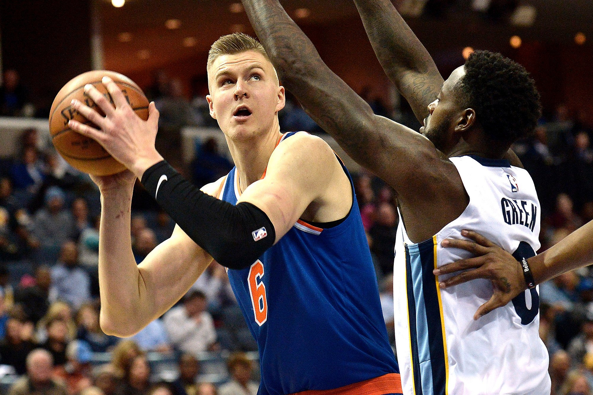 Kristaps Porzingis out after injuring knee in practice