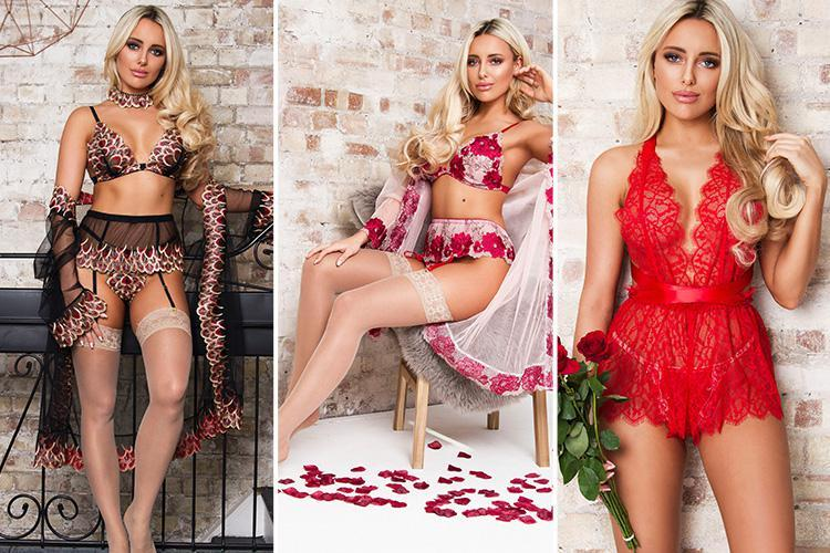 Towie's Amber Turner shows off the results of her new boob job in sexy new lingerie advert after surviving show cull