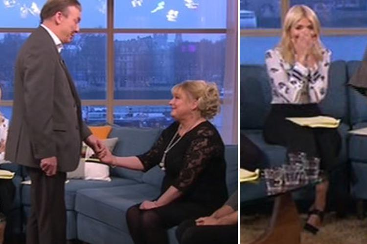 Holly Willoughby fights back tears as man with stammer reads out his wedding speech live on This Morning after failing to do so first time round