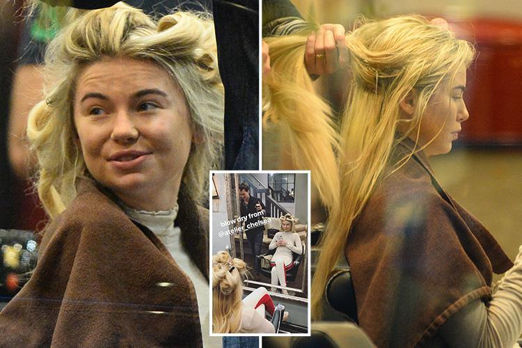 Georgia Toffolo gets pampered in the salon as she tries out hairstyles for the most glamorous bash in television tonight