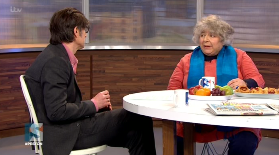 Miriam Margolyes drops the F-word during live interview on Peston On Sunday