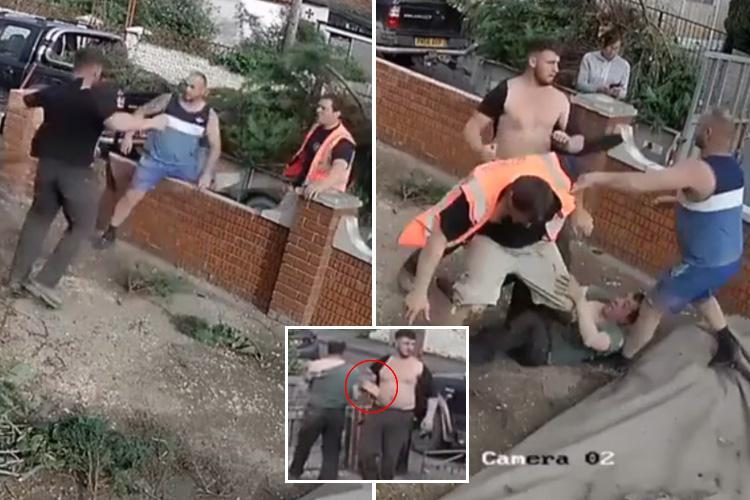 CCTV captures brutal fight between two neighbours in row over cutting of trees