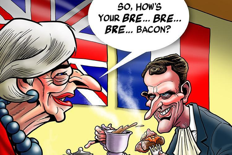Theresa May must take the opportunity to bend Emmanuel Macron's ear at the Brexit table next week