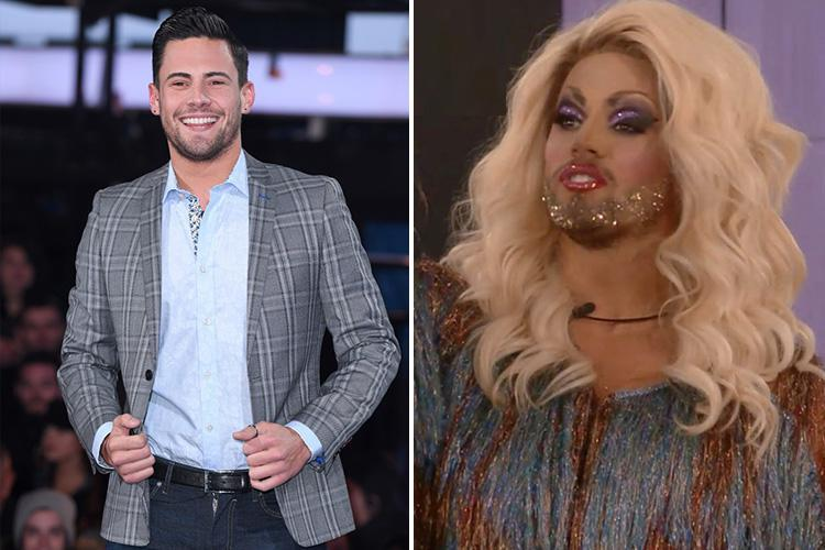 Andrew Brady appearing as drag alter-ego Betty Swollocks at G-A-Y after makeover from Courtney Act in the Celebrity Big Brother house