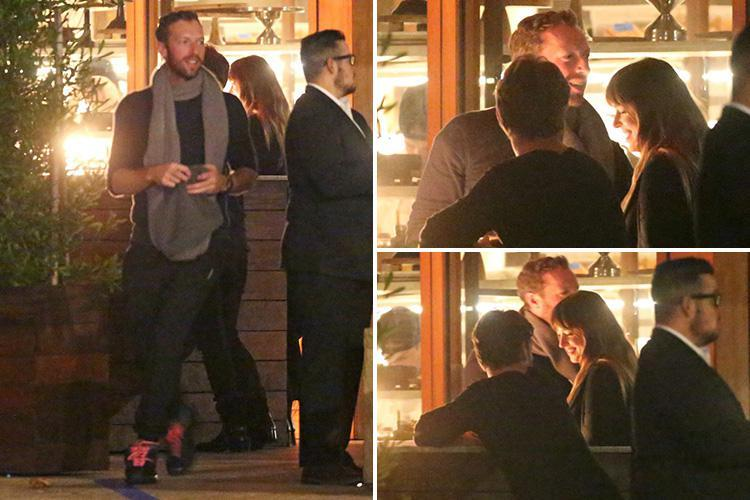 Chris Martin and Dakota Johnson pictured together for the first time on a dinner date in Malibu