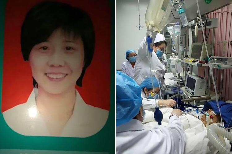 Doctor, 43, collapses and dies in front of her patient after working an intense 18 hour shift in China