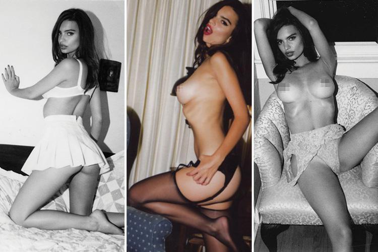 Emily Ratajkowski goes topless and flashes her bum in new unseen pics from photography book