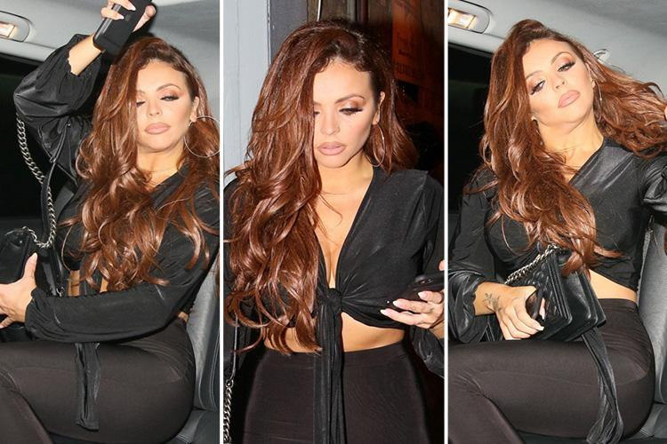 Little Mix's Jesy Nelson looks all partied out as she leaves Faces nightclub in Essex