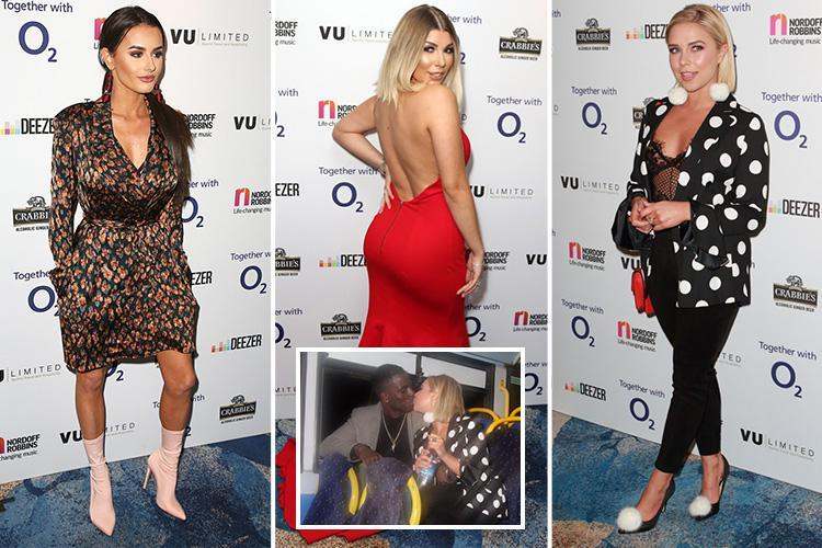 Love Island stars reunite at glitzy Nordoff Robbins charity dinner in London as Amber Davies and Gabby Allen party with Olivia Buckland
