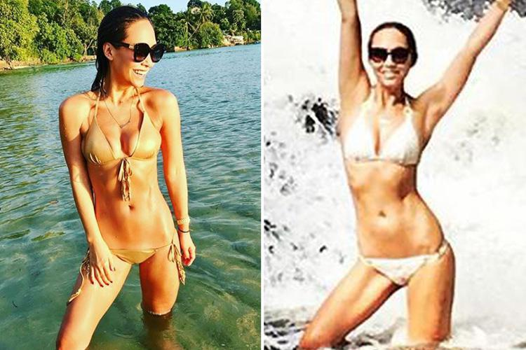 Myleene Klass stuns in gold bikini on dream holiday in the Seychelles