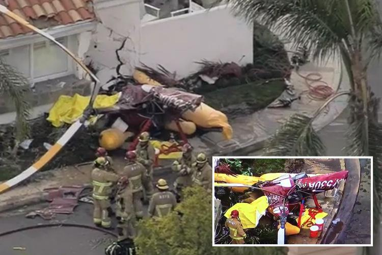 California helicopter crash leaves three dead after chopper smashed into Newport Beach home