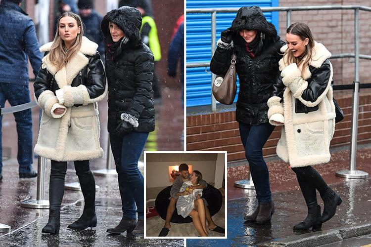 Perrie Edwards braves the rain to watch boyfriend Alex Oxlade-Chamberlain play for Liverpool, after an early night on New Year's Eve