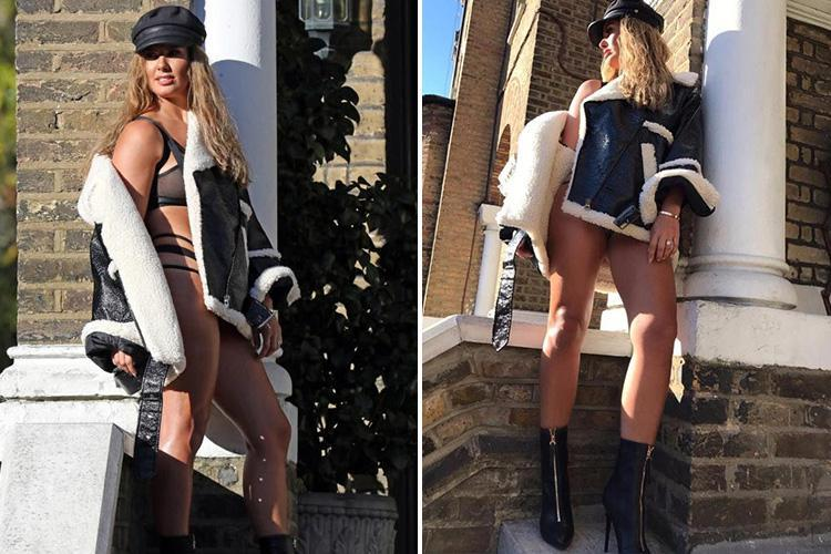 Rebekah Vardy wears leather underwear as she strips off for very raunchy photoshoot on her first day back at work after I'm A Celebrity