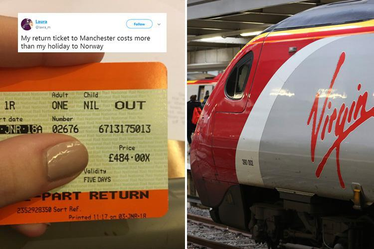 Virgin Trains passenger shares eye-watering train fare from London to Manchester – 'which cost more than a flight to IRAN'