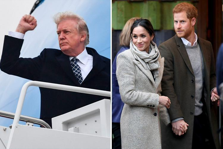 Donald Trump 'faces Royal Wedding snub' just hours after he pulled out of UK Embassy trip