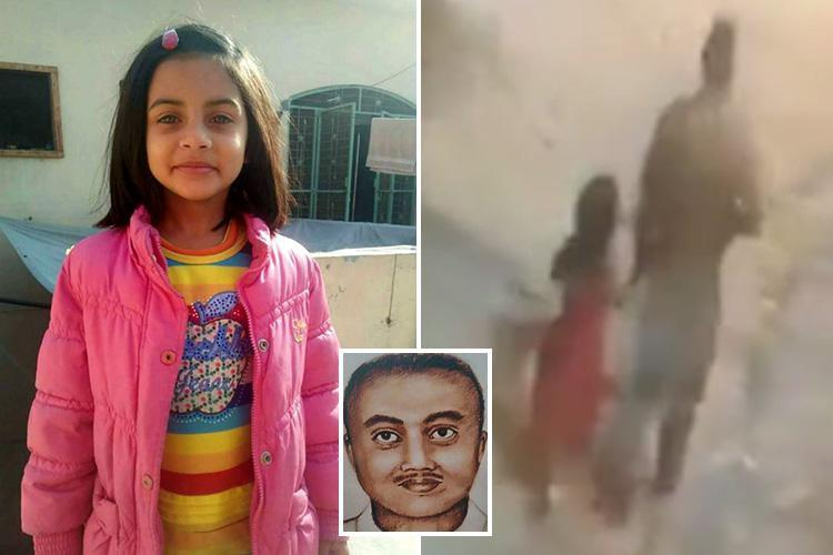 Sketch of suspect released in hunt for man who raped and murdered six-year-old Zainab Ansari in Pakistan