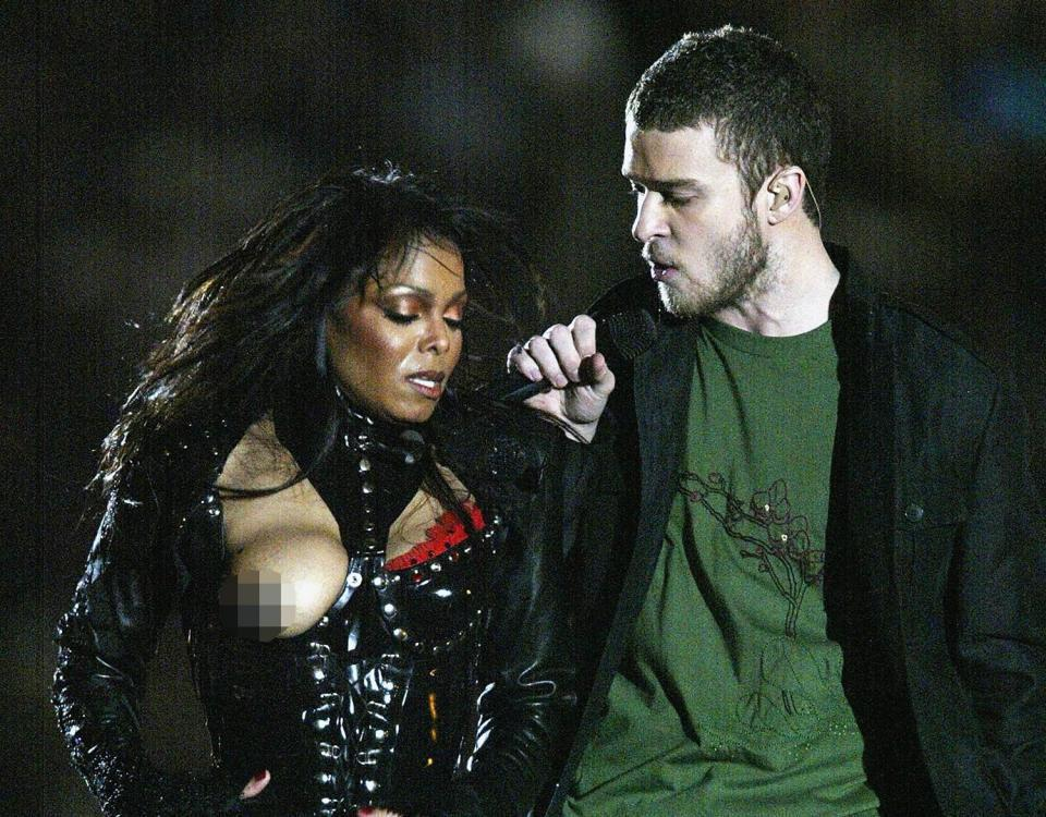 When was the Justin Timberlake and Janet Jackson Super Bowl 'nipplegate' scandal and was it accidental?