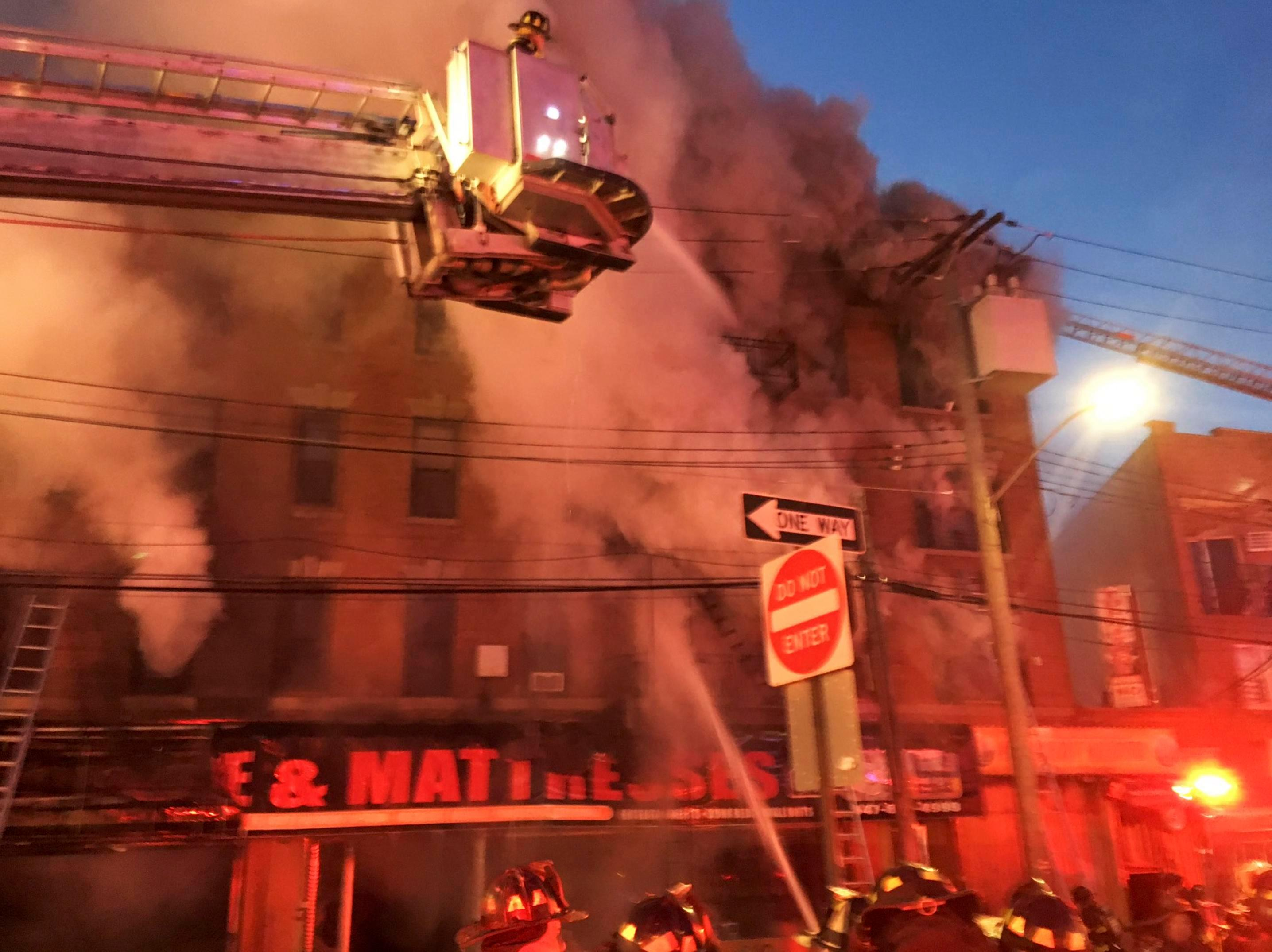 Hundreds of firefighters battle massive inferno at Bronx apartment block just days after blaze that killed 12