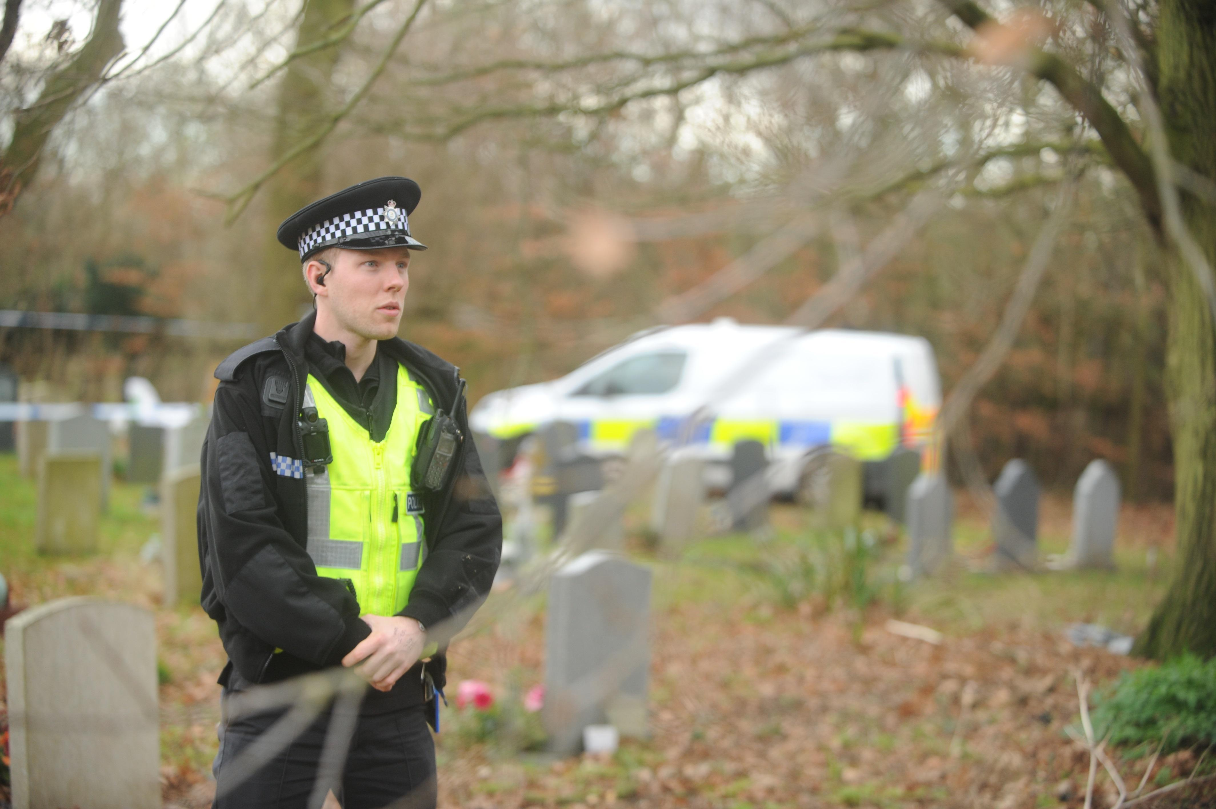 Mystery as child's grave is found 'disturbed' prompting cops to seal off cemetery