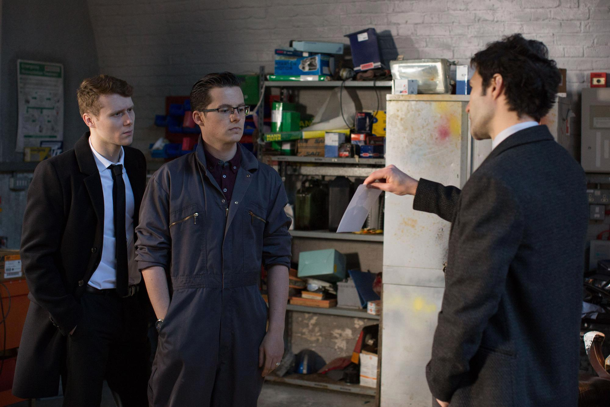 Ben Mitchell and Jay Brown get a shock as police arrive after bungled heist in EastEnders