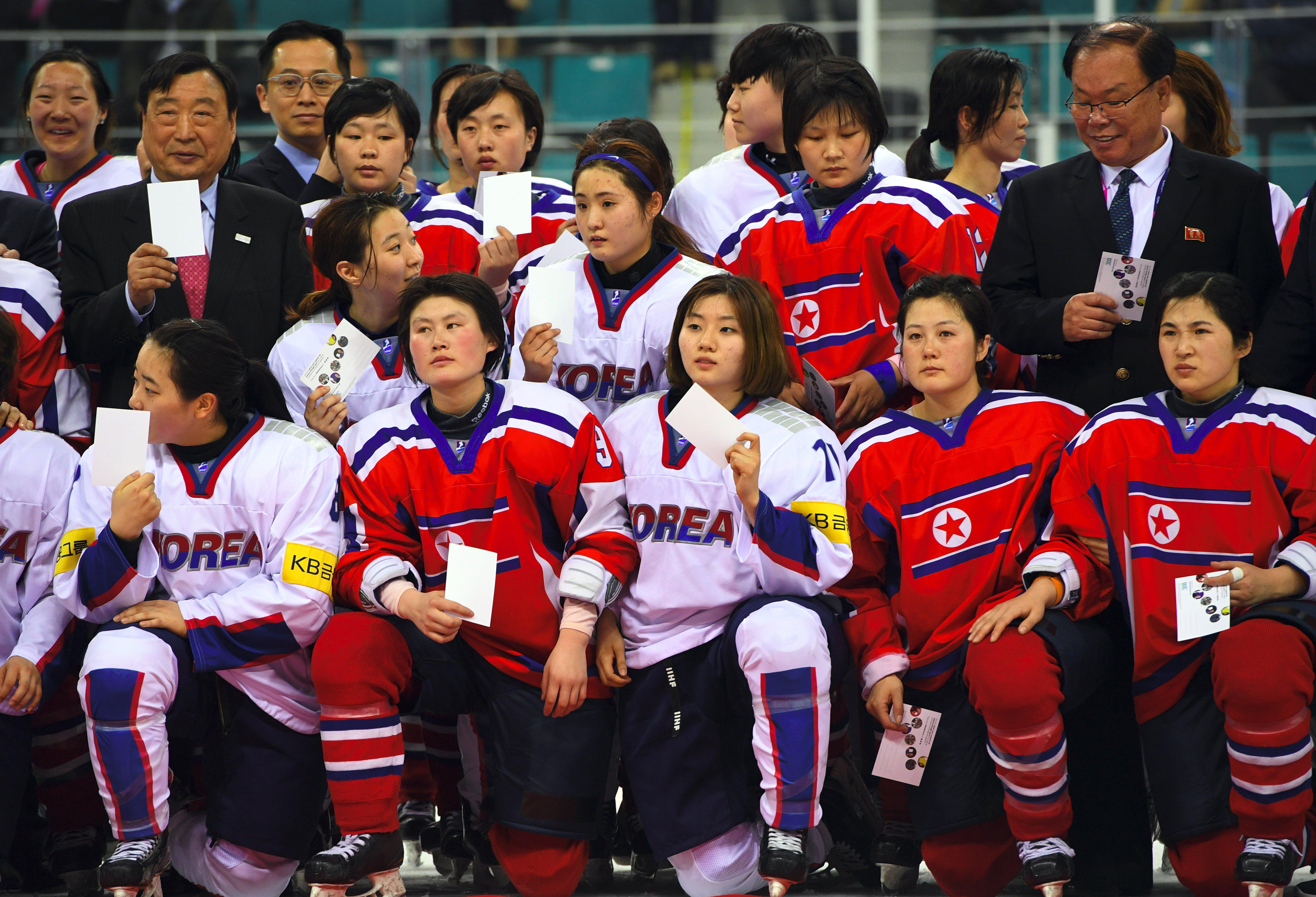 Historic talks between North Korea and South Korea are going so smoothly the nations are considering a joint ice hockey team for the Winter Olympics next month