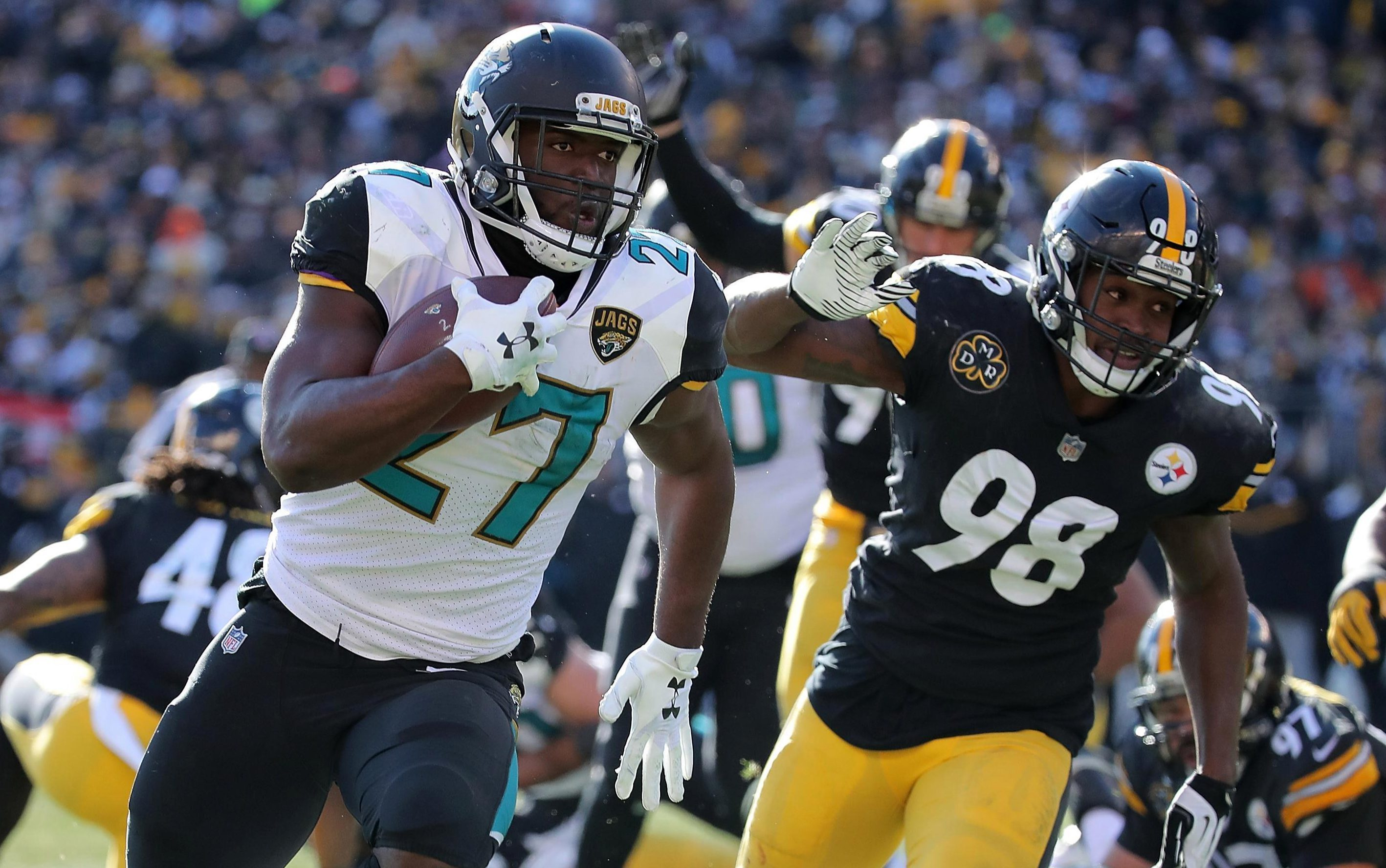 Pittsburgh Steelers 42 Jacksonville Jaguars 45: Leonard Fournette bags three touchdowns as Jags stun Steelers in thrilling AFC showdown
