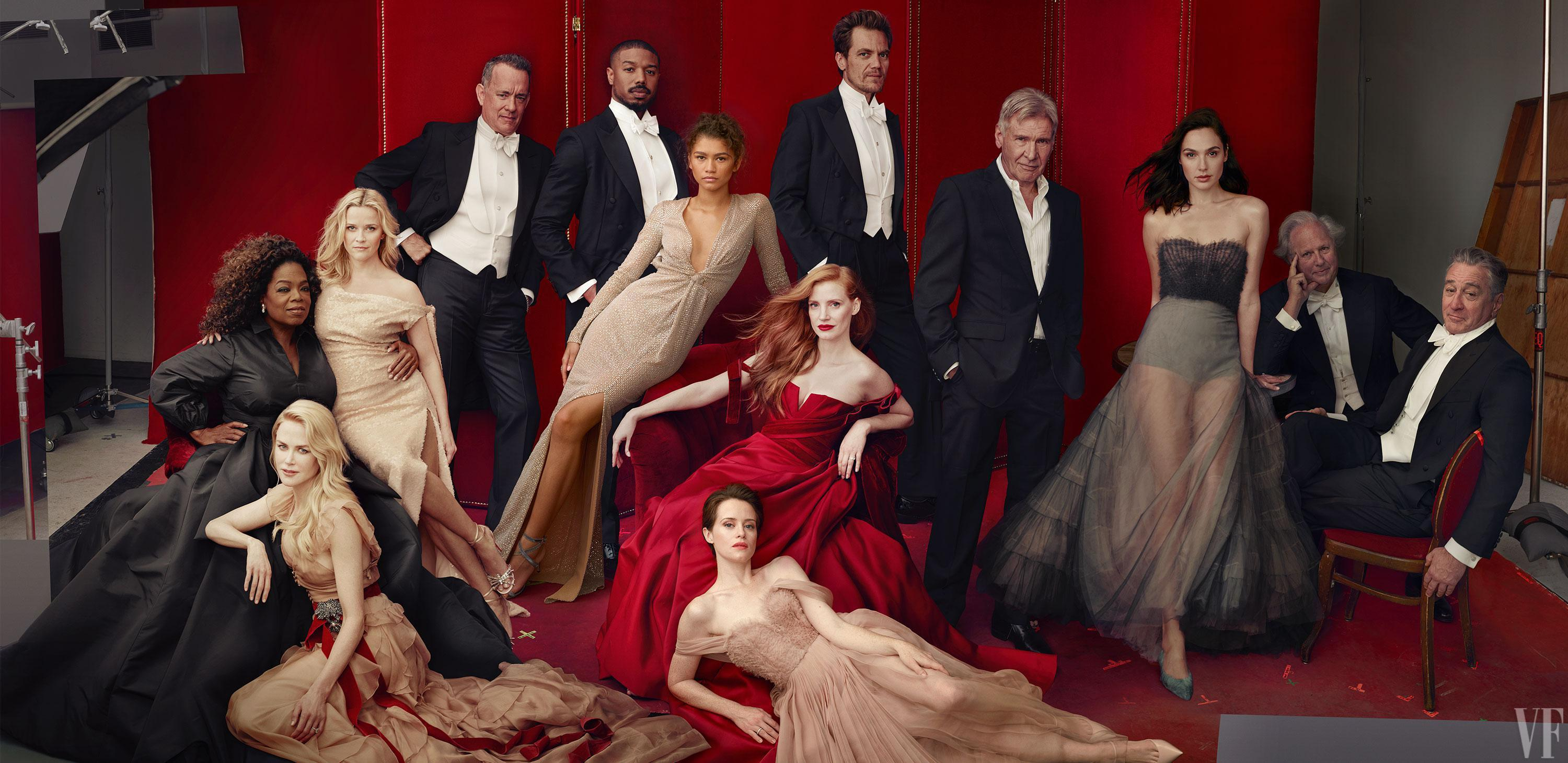 Claire Foy, Nicole Kidman, Oprah and Gal Gadot are among 12 of the world's most famous faces posing for the cover of Vanity Fair's iconic Hollywood issue