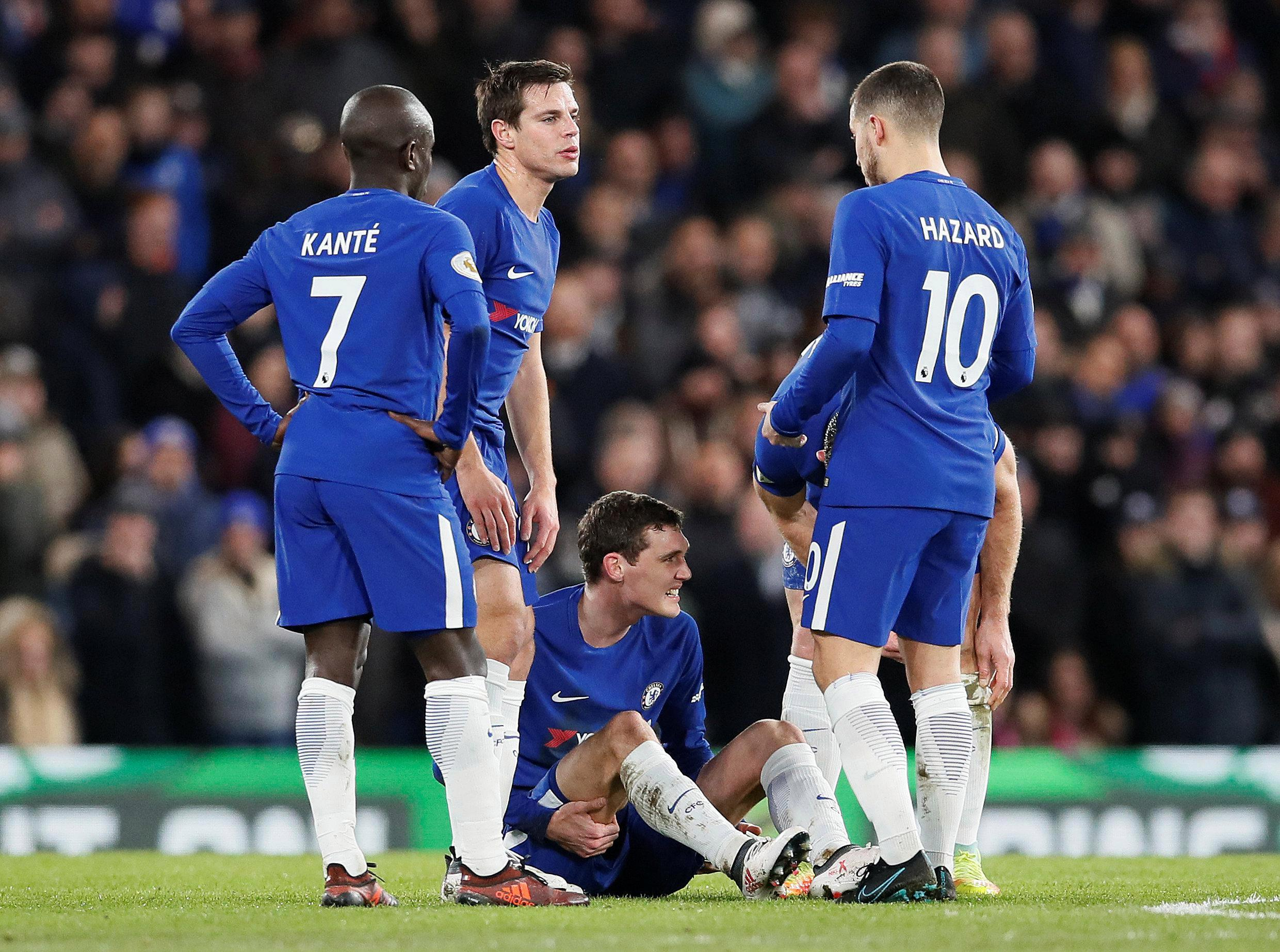Chelsea blow as Andreas Christensen hobbles off with suspected hamstring tear