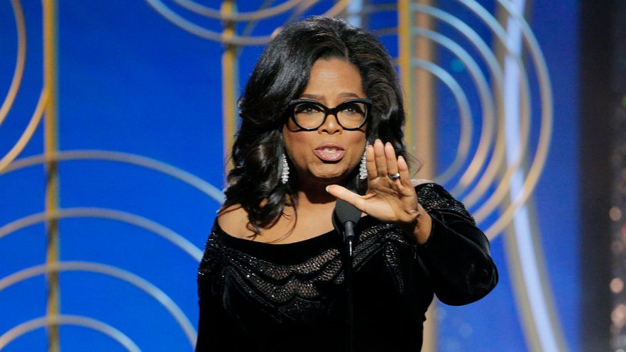 You Can Listen to Oprah's Golden Globes Speech on Spotify