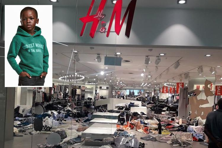 H&M stores in South Africa smashed up as cops fire rubber bullets at protesters who stormed Swedish firm's shops in fury at 'coolest monkey' race row hoodie