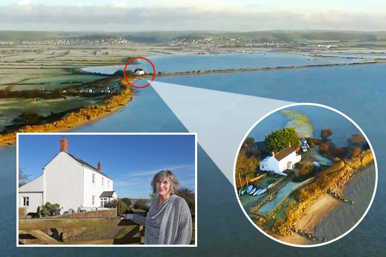 Homeowner fears she could lose her home under flood water as locals face chaos 'after authorities refuse to rebuild sea wall that protected them'