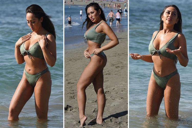 Geordie Shore star Sophie Kasaei looks sensational in a bikini as she hits the beach in Turkey after two-stone weightloss