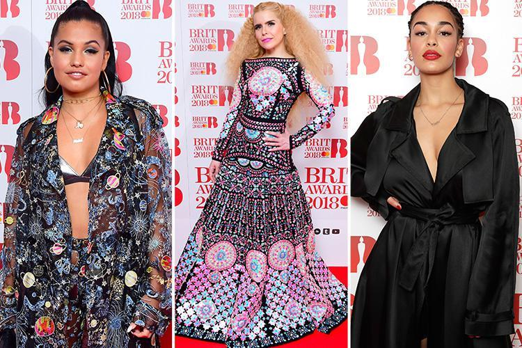 Paloma Faith steals the show in stunning mosaic gown as popstars flock to the BRIT Awards 2018 nominations launch