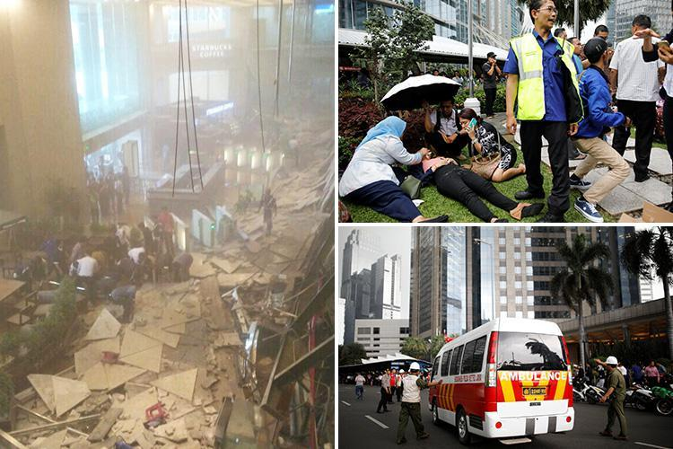 Jakarta Stock Exchange tower's ceiling collapses leaving 72 injured