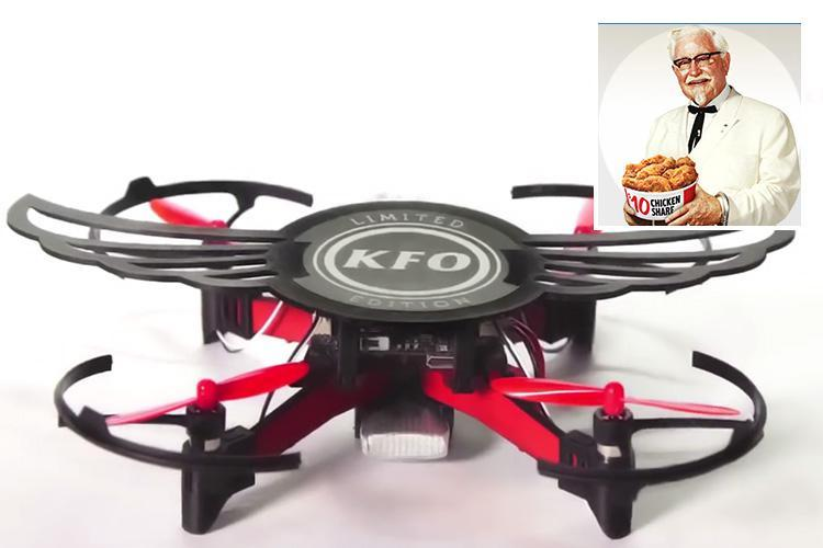 KFC chicken wings boxes are now being given out with mini DRONES…but there's a bit of a catch