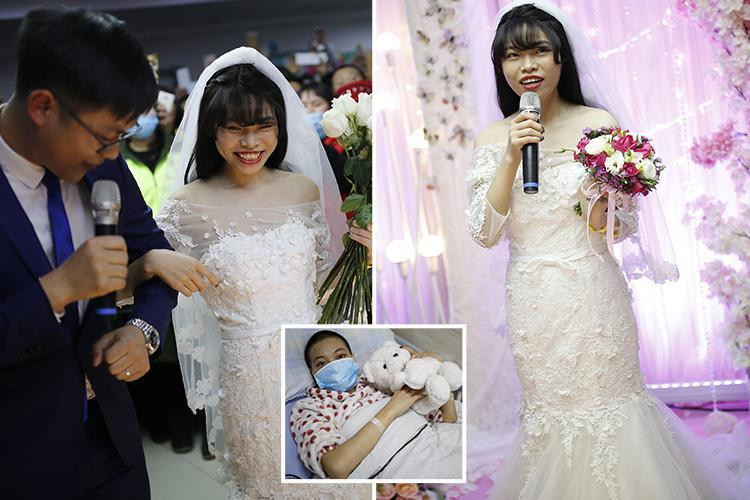 Lonely woman dying of cancer marries HERSELF because she was desperate to have a 'fairytale wedding' before she died but couldn't find a boyfriend