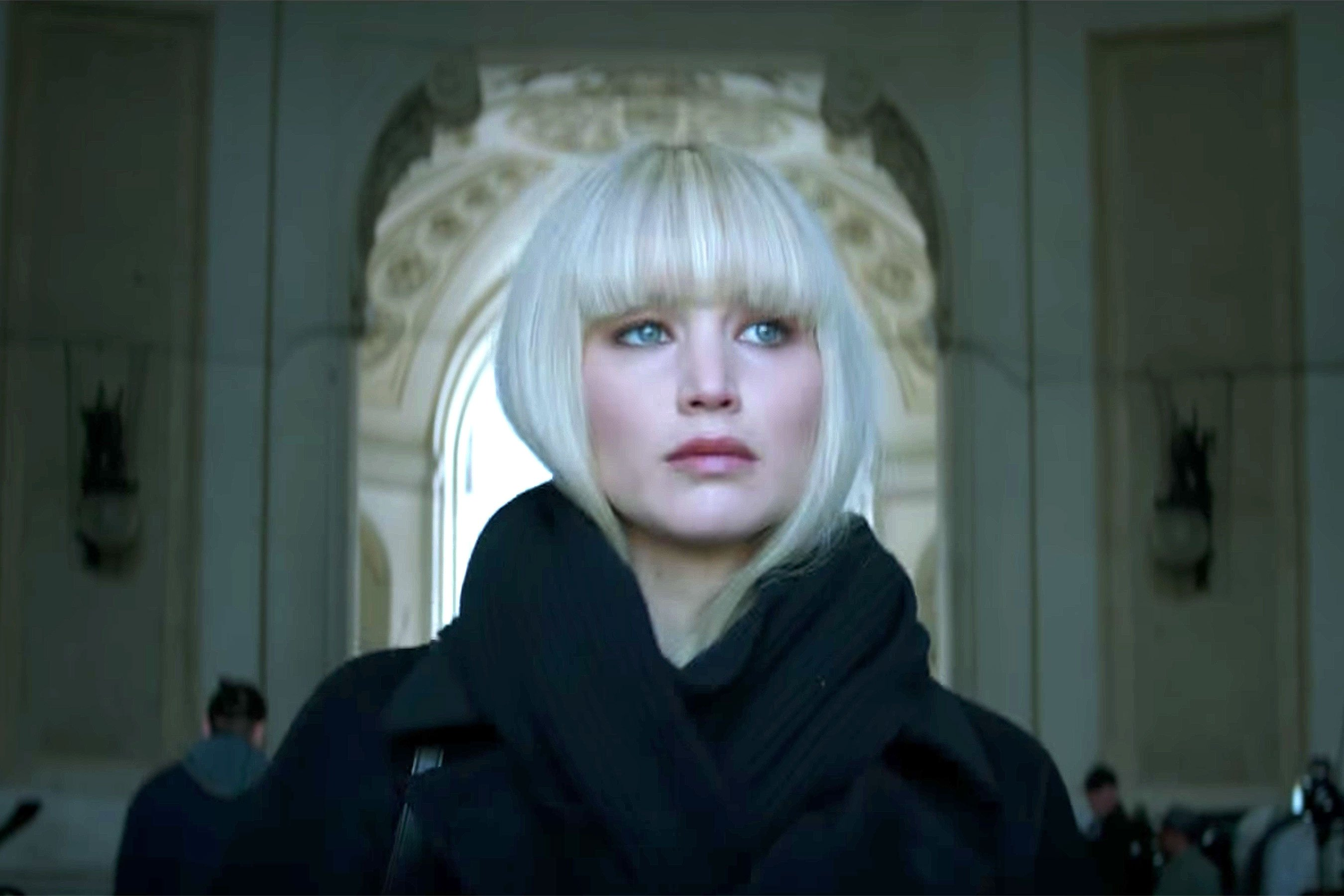 Red Sparrow: Jennifer Lawrence sees red in new promo