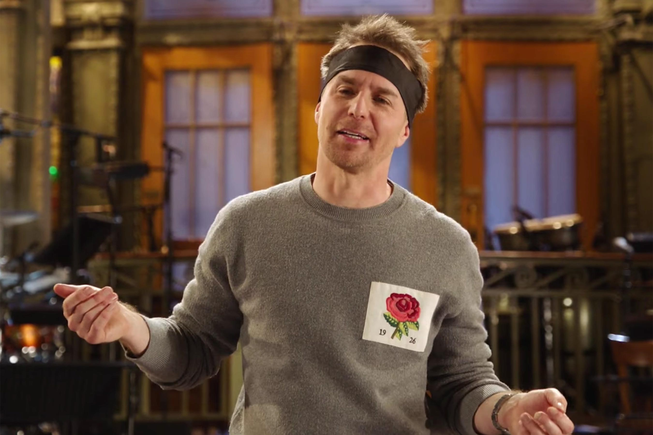 Sam Rockwell drops F-bomb during SNL sketch