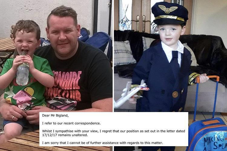 Dad's anger as Ryanair refuse to refund him for Christmas flight to see his son he had to cancel for cancer treatment