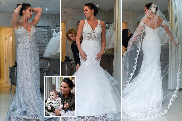 Danielle Lloyd tries on wedding dresses as she prepares to marry fiance Michael O'Neill – but which one did she pick?