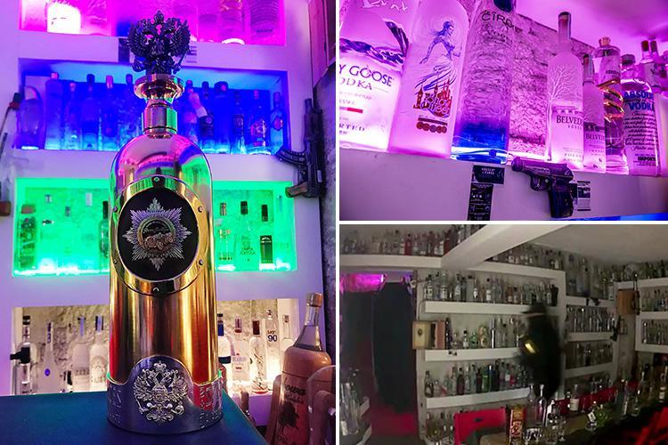 Clueless thieves steal £1m gold and diamond vodka bottle from a trendy bar then dump it after downing £5 contents