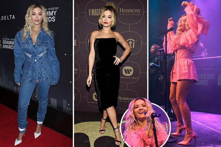 Rita Ora looks sensational as she has THREE outfit changes for pre-Grammy Awards parties