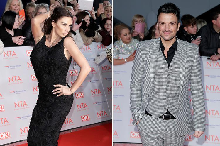 Katie Price and Peter Andre 'kiss and make up' after they come face to face at the National Television Awards